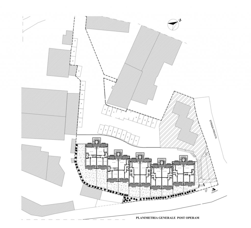 area fabbricabile a Roma Nord, zona Villa Spada planimetria postoperam
